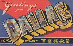 118 best vintage greetings from postcards images on pinterest shop greetings from dallas texas postcard created by vintagepostcard m4hsunfo