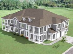 8-Unit House Plan with Corner Decks - 18511WB | 2nd Floor Master Suite, CAD Available, PDF | Architectural Designs