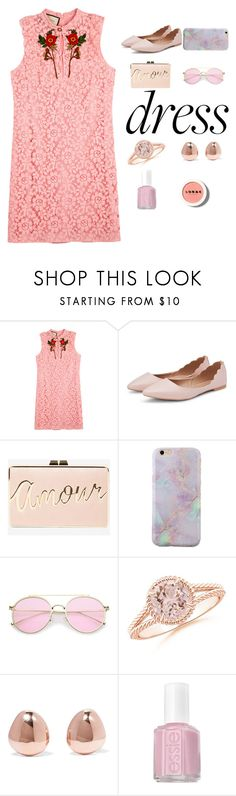 """""""Dreamy Dresses"""" by grace-granger on Polyvore featuring Gucci, BCBGMAXAZRIA, Monica Vinader, Essie, LORAC, contest, silk, contestentry and dreamydresses"""