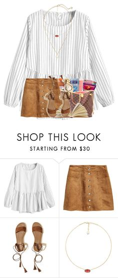 """""""Night routine in d"""" by cassieq6929 ❤ liked on Polyvore featuring H&M, Hollister Co., Kendra Scott and living room"""