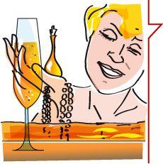 Benessere, oro e champagne