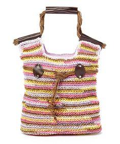 Look at this #zulilyfind! Lavender Stripe Toyo Bag #zulilyfinds