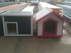 A nice couple of dog houses! Dog Houses, Shed, Outdoor Structures, Couple, Nice, Dogs, Pet Dogs, Dog Kennels, Doggies