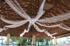 Wedding Reception...North Carolina Style in the Pavillion...Lighting up a Magical Night