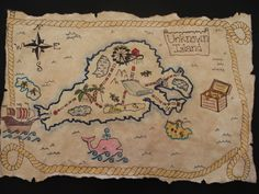 a faithful attempt: Pirate Treasure Maps