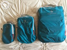 We love packing cubes. Packing cubes are just the best. When you're living out of a backpack for weeks on end, cubes not only help you stay . Carry On Packing, Vacation Packing, Packing Tips For Travel, Travel Hacks, Travel Ideas, Best Packing Cubes, Travel Clothes Women, Travel Clothing, Eagle Creek