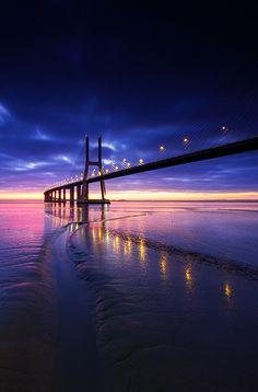 tr3slikes:500px / Vasco da Gama bridge, Lisbon, Portugal - www.fabriziopescali.com, fine art print by Fabrizio Pescali)
