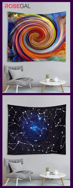 Rosegal Oil Painting Vortex Tapestry Wall Tapestry ideas - new site Cool Ideas, Blanket On Wall, Easy Paintings, Tapestry Wall Hanging, Cool Walls, Art Projects, Street Art, Abstract Art, Canvas Art