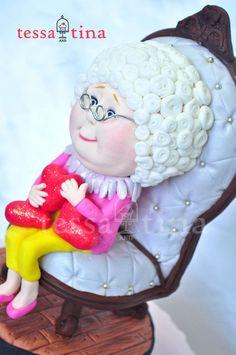 I heart Grandma #cake topper by tessatinacakes