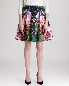 Ted Baker Skirt - Hotley Mirrored Tropics