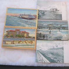 Vintage Galveston Texas Beach Scenes Postcard Lot Of 5 RPPC PLUS