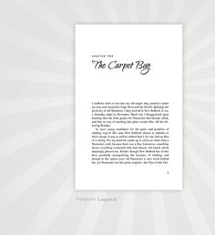 Book design templates for Microsoft Word
