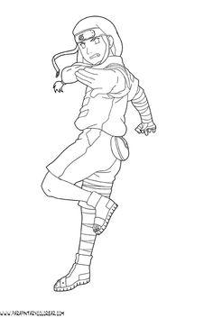 Naruto Coloring pages Naruto Gaara, Anime Naruto, Kid Kakashi, Tenten Y Neji, Naruto Sketch, Naruto Drawings, Anime Sketch, Cute Drawings, Drawing Anime Bodies