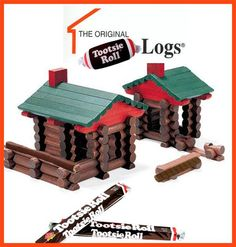 """Gregory Gunther says, """" I need to buy my kids some """"Tootsie Roll-Logs"""", Another funny Toy MashUp from the Chicago Toy and Game Fair facebook page. :)"""