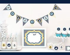 Get a head start on your nautical themed baby shower with a Nautical Baby Shower…