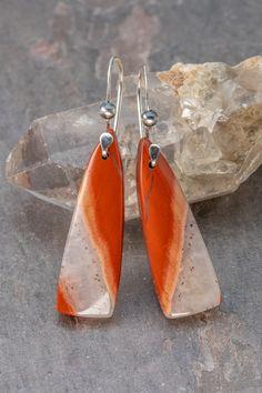 artisan lampwork and sterling silver earrings CANYON RIVER EARRINGS