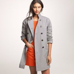 J.Crew Mackintosh Rousay Trench Coat In Gingham