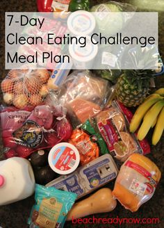 7-Day Clean Eating Meal Plan subbing some of the dinners with Vegetarian options