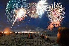 Each Wednesday night in the summer, come by Hampton beach for a fantastic fireworks show. There's nothing better than those reflections over the water.