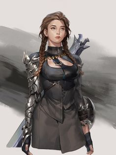 ArtStation - :), Sunmi Lee - My best design list Fantasy Character Design, Character Creation, Character Design Inspiration, Character Concept, Character Art, Character Reference, Dungeons And Dragons Characters, Dnd Characters, Fantasy Characters