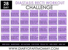 Diary of a Fit Mommy » 28 Day Diastasis Recti Workout Challenge
