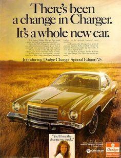 The all new 1975 Dodge Charger Special Edition.(basically it was just a Chrysler Cordoba with a different nose and different tail lights)
