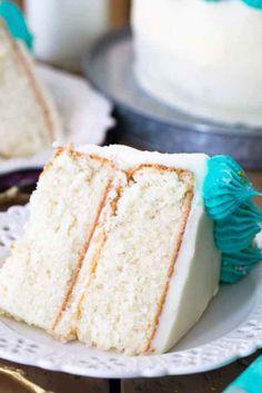 The Best White Cake Recipe #birthdaycakes #cake #dessert #sweettreats #whitecake