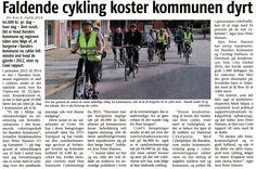 På min opfordring har Cowi beregnet, hvad det koster at borgerne i Randers cykler en smule mindre nu ift. 2012: Ekstra helbredsomkostninger for kommune og region er 46.000 kr. pr dag eller 17 mio. kr. pr. år.