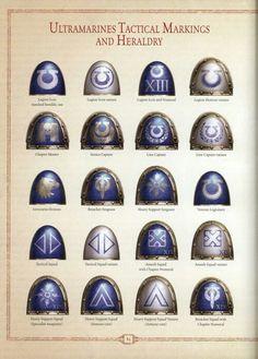 Ultramarines legion heraldry and markings