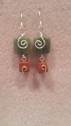 Jasper and Jade earrings