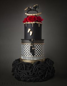 MacKenzie-Childs - Cake by Kek Couture Black Wedding Cakes, Amazing Wedding Cakes, Amazing Cakes, Wedding Black, Baby Cakes, Gorgeous Cakes, Pretty Cakes, Fondant Cakes, Cupcake Cakes