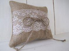 Burlap cushion