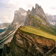 Dolomites, Italy.  We visited here (not this exact spot) but went to Bolzano and Soprabolzano Fall of 2009.  My favorite place in Italy, by far.