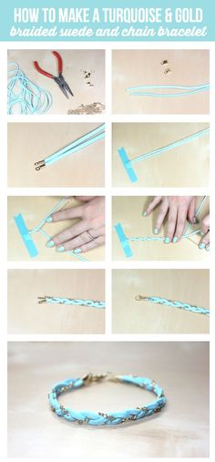 How to make a Braided Bracelet - cute and simple tutorial on { lilluna.com }