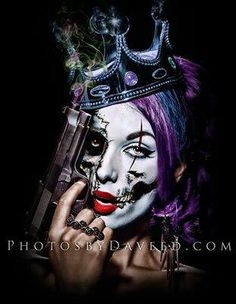 Shop for Daveed Benito 'Killer Queen' Gallery-wrapped Canvas Print. Get free delivery On EVERYTHING* Overstock - Your Online Art Gallery Store! Chicano Tattoos, Chicano Art, Girl Tattoos, Sweet Tattoos, Tattoo Studio, Scary Paintings, Tribal Arm, Marilyn Monroe Artwork, Queen Poster