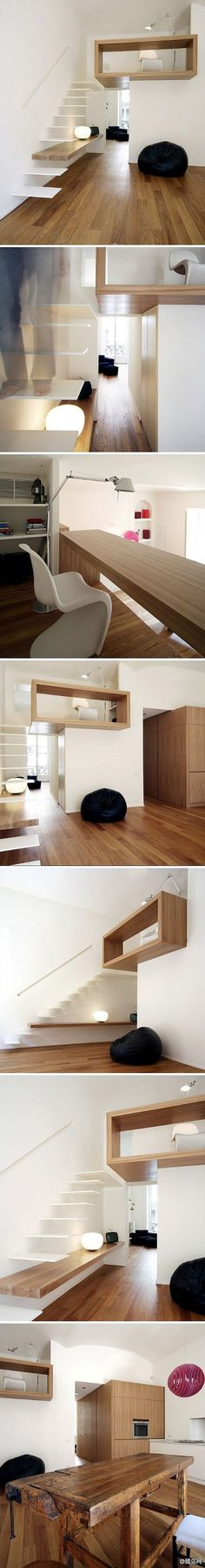Space saving loft idea is creative inspiration for us. Get more photo about home decor related with by looking at photos gallery at the bottom of this page. We are want to say thanks if you like to share this post to another people via your facebook, pinterest, google plus …