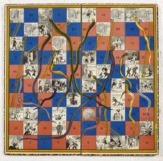 Game of Snakes & Ladders, United Kingdom, 1895 Victoria and Albert Museum, London South Asian Games, Museum Of Childhood, Childhood Games, Childhood Memories, Indians Game, Classic Board Games, 11. September, Old Games, Vintage Games