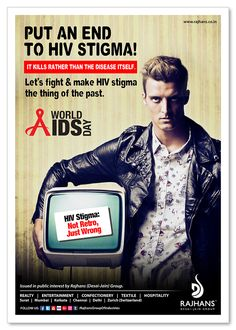 #HIVStigma: Not retro, Just Wrong. Let's fight & make #HIV stigma the thing of the past. #WorldAIDSDay