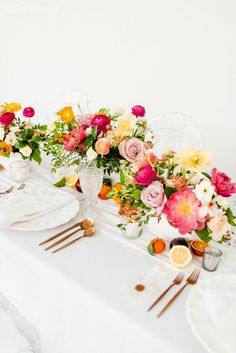 Bright & Colourful Wedding Inspo For Summer Colourful Wedding Table Setting, Colourful Wedding Centr Elegant Wedding, Floral Wedding, Wedding Bouquets, Wedding Favors, Wedding Yellow, Nautical Wedding, Decor Wedding, Diy Wedding, Rustic Wedding