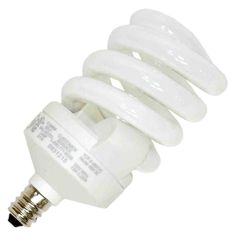 TCP CFL Spring Lamp - 60 Watt Equivalent (only used! Compact Fluorescent Bulbs, Candelabra Bulbs, Spiral, Light Bulb, Bright, Base, Amazon, Aurora, Organize