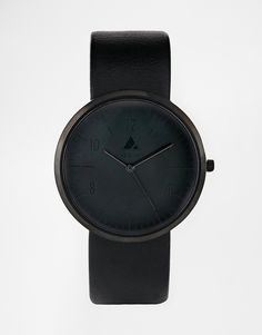 Image 1 of ASOS Monochrome Watch In Black