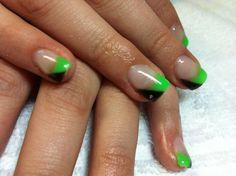 neon green nail designs