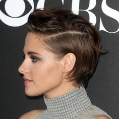 Kristen Stewart's red carper short hairstyle.