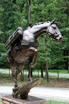"Life Size Bronze Monument of the Korean War Horse ""Sergeant Reckless"""