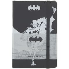 MOLESKINE Batman plain notebook ($18) ❤ liked on Polyvore featuring home, home decor, stationery, books, fillers and notebooks