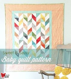 Cluck Cluck Sew: Sweet n' Sassy Baby Quilt Pattern (free pattern & tutorial) Quilt Baby, Baby Quilt Patterns, Quilting Patterns, Quilting Ideas, Modern Quilting, Cot Quilt, Quilting Blogs, Owl Patterns, Quilt Top