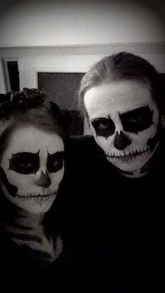 skeleton couple halloween makeup