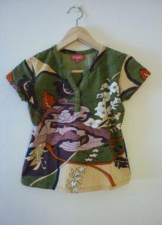 Kupuj mé předměty na #vinted http://www.vinted.cz/damske-obleceni/s-kratkym-rukavem/9585416-kvetinove-mozaikove-tricko-od-coconut