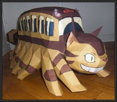 My Neighbor Totoro - Catbus Free Papercraft Download