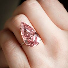 "Who's in love tonight? The ""simply astonishing"" #UniquePink #diamond goes for $31.56 million at #Sothebys"